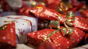 Pretty gifts wrapped for Christmas